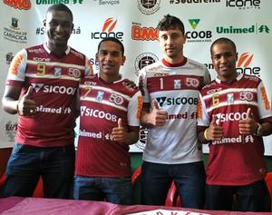 Apresentação dos jogadores da Desportiva Ferroviária (Foto: Henrique Montovanelli/Desportiva Ferroviária)