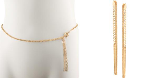 Kit Suelen inclui o cinto de corrente dourada e um brinco dourado usados pela personagem de Isis Valverde (Foto: Divulgação/ TV Globo)