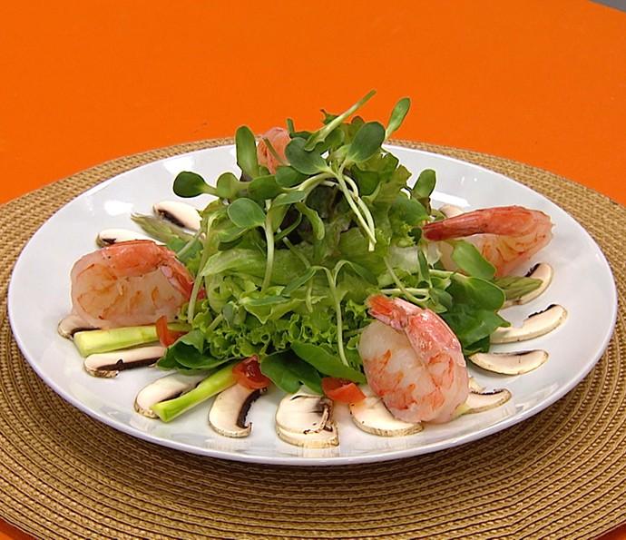 Salada de camarão (Foto: Gshow)