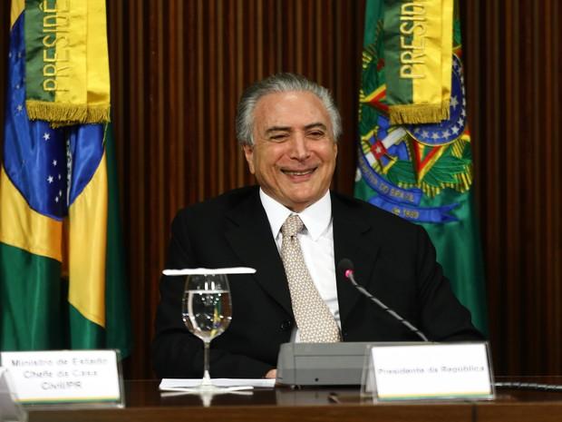 Michel Temer realiza primeira reunião ministerial após ser efetivado presidente da República no Palácio do Planalto, em Brasília (Foto: Wilton Junior/Estadão Conteúdo)