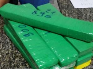 Cocaína foi apreendida com a adolescente no aeroporto de Fortaleza (Foto: Polícia Federal)