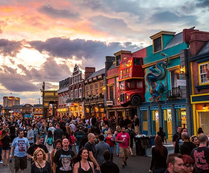 Um dos destaques do Rock in Rio Las Vegas foi a Rock Street (Foto: Divulgação)