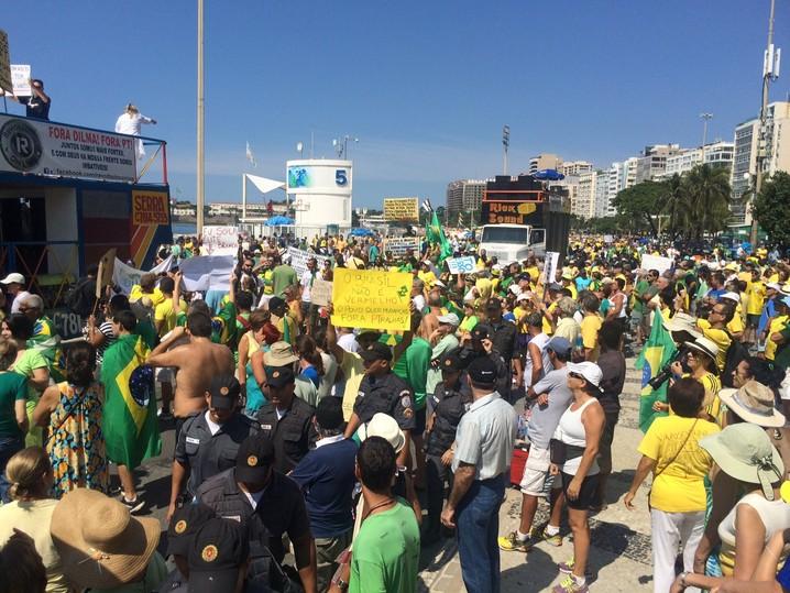 Protesto em Copacabana