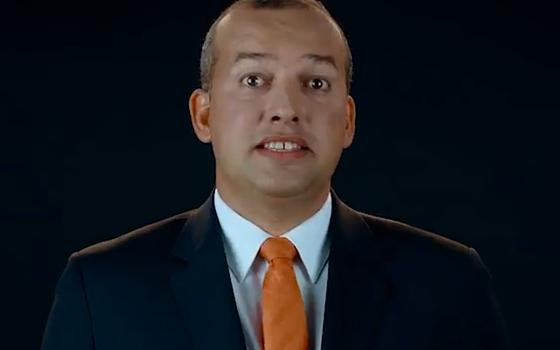 O presidente do PROS, Eurípedes Junior, durante inserção partidária na TV (Foto: Reprodução/ Youtube)