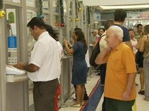 Sistema da Mega-Sena ficou fora do ar em lotérica de Campinas  (Foto: Reprodução / EPTV)