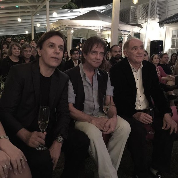 Tom Cavalcante, Roberto Carlos e Renato Aragão (Foto: Reprodução/Instagram)