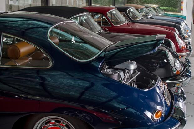 Porsches e mais Porsches na coleção do advogado (Foto: Rogério Albuquerque)