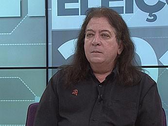 Miguel Anacleto, candidato do PCB ao governo de Pernambuco (Foto: Reprodução / G1)