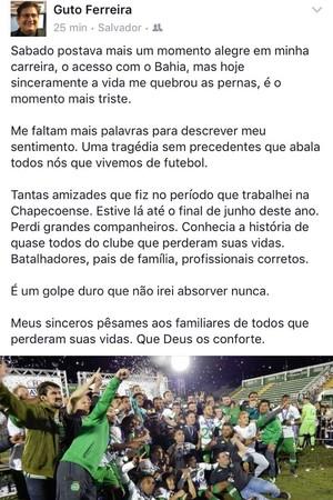 Guto Ferreira; Bahia; Chapecoense (Foto: Reprodução)