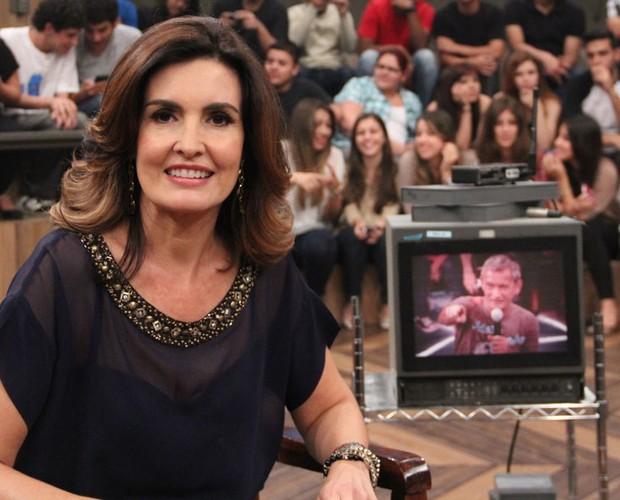 Fátima Bernardes fala sobre a relação com os filhos (Foto: TV Globo/Altas Horas)