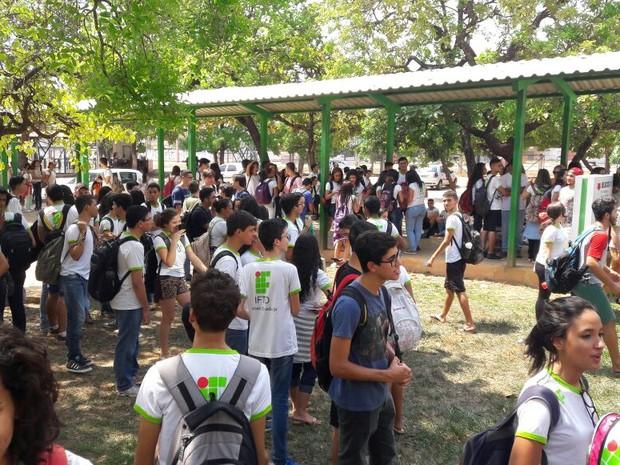 Estudantes ocupam Campus Palmas do IFTO (Foto: Patrick das Neves Sousa/Divulgação)