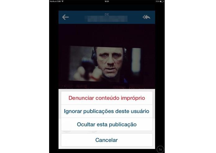 Ignorando as publicações de um amigo no Instagram (Foto: Reprodução/ Lívia Dâmaso)