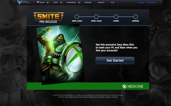 Smite: aprenda a fundir contas do Xbox One e PC (Foto: Reprodução/Murilo Molina)