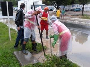 Seinfra procurou desobstruir galerias da cidade (Foto: Divulgação/Seinfra)