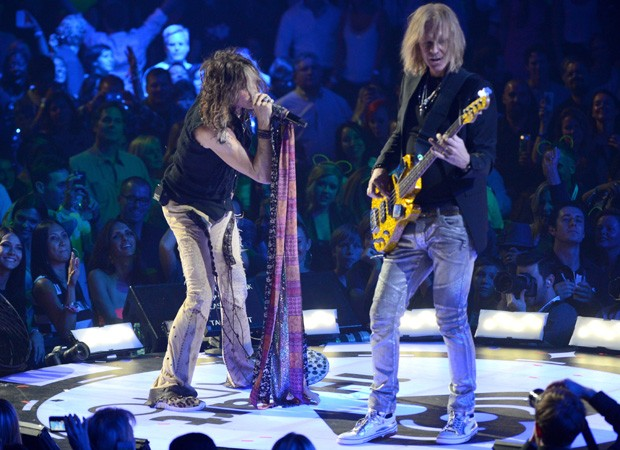 Steven Tyler e Tom Hamilton  (Foto: Getty Images)