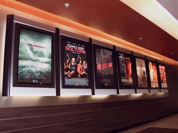 Os pôsteres de filmes fictícios foram pendurados em cinemas de São Paulo (Foto: Divulgação)