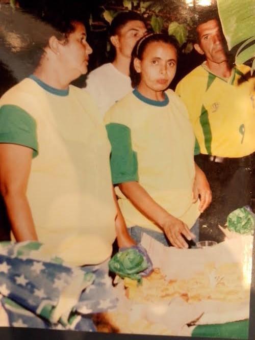 Cleonice particpou do Arraiá da TV Grande Rio em 2002 (Foto: Arquivo Pessoal)