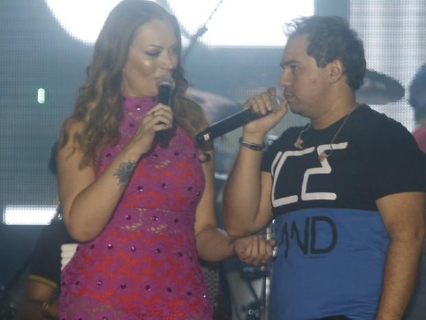 Solange Almeida e Xand, do Aviões do Forró, em Natal, no Rio Grande do Norte (Foto: Fred Pontes/ Divulgação)