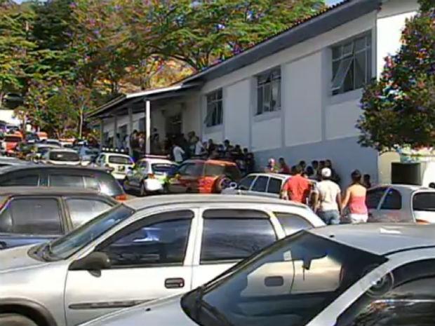 Velório do subcomandante da guarda municipal de Mairinque (Foto: Reprodução/TV TEM)