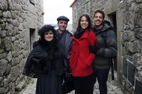 Elenco do filme em Portugal (Foto: Arquivo pessoal)