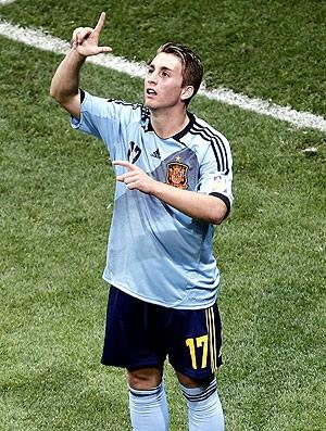 Gerard Deulofeu comemoração gol Espanha EUA sub-20 (Foto: EFE)