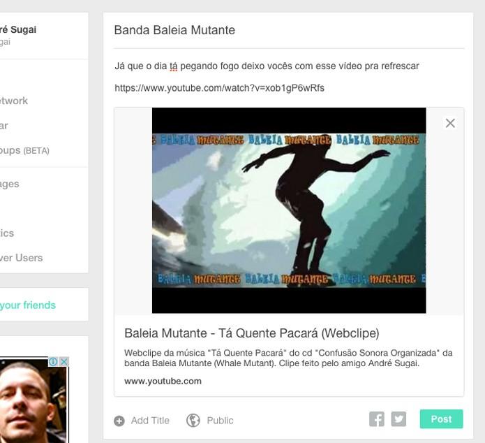 Ganhe dinheiro compartilhando vídeos (Foto: Reprodução/André Sugai)