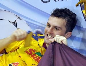Thiago, jogador de Neves Paulista na Copa TV TEM (Foto: Marcos Lavezo/Globoesporte.com)