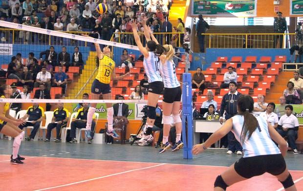 Vôlei Brasil e Argentina (Foto: Thierry Gozzer)