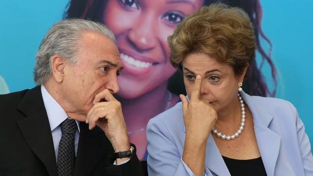 Michel Temer e Dilma Rousseff: chapa em julgamento (Foto: Lula Marques/Agência PT)