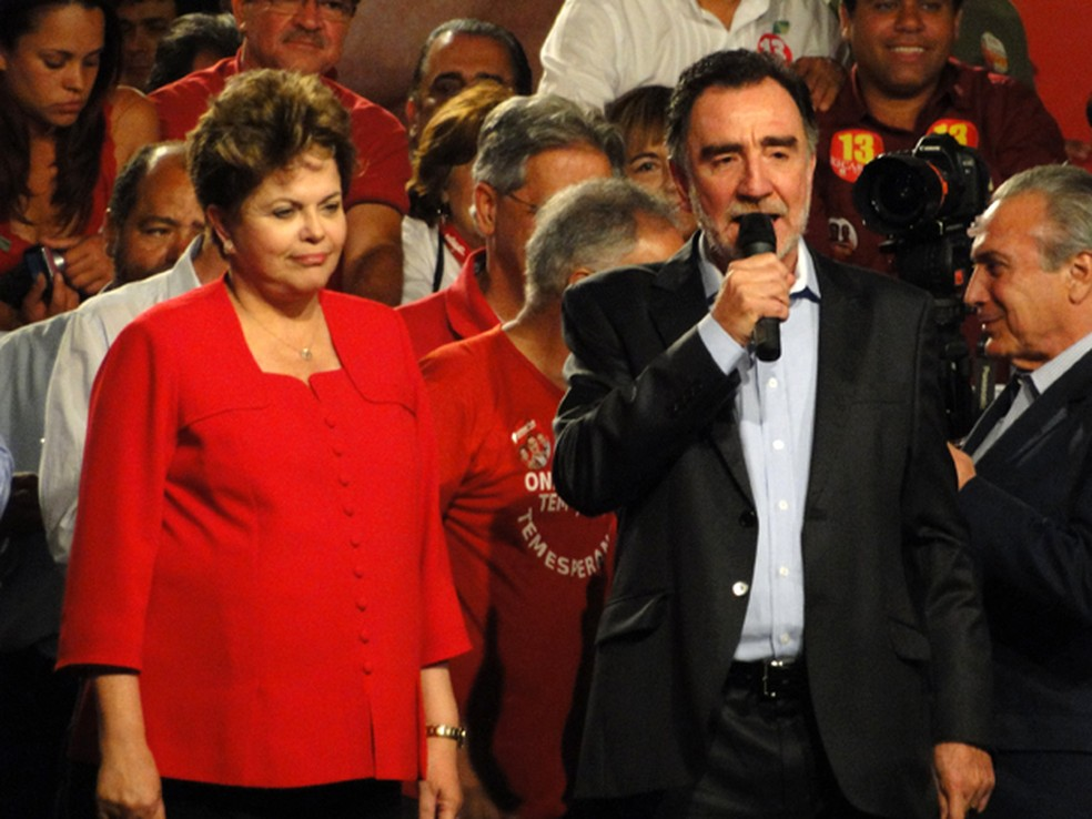 Dilma acompanhou discurso de Patrus em Belo Horizonte, em outubro de 2012 (Foto: Pedro Cunha/G1)
