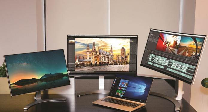 Monitores da LG passam a contar com versões ultra widescreen, novas telas 4K e portas UBS-C e Thunderbolt 2 (Foto: Divulgação/LG)
