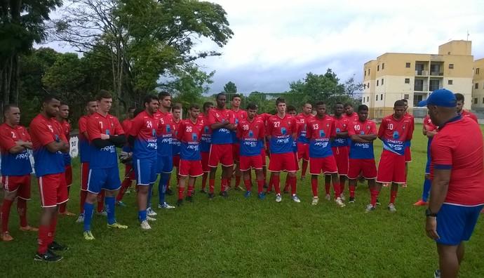 Elenco do Sport-ES faz a sua pré-temporada em Atibaia, interior paulista (Foto: Assessoria de imprensa/Sport-ES)