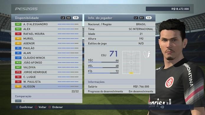 Alisson é jovem, mas melhor que seu goleiro da ML (Foto: Reprodução/Thiago Barros)