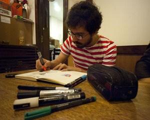 Marcelo Colmenero, de 29 anos, trabalha com comunicação, mas sempre gostou de desenhar. Ele joga Draw Something faz quase dois meses (Foto: Arquivo pessoal)