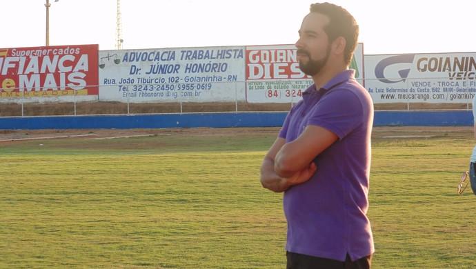 Rodrigo Peixoto - coach América-RN (Foto: Carlos Arthur da Cruz/GloboEsporte.com)