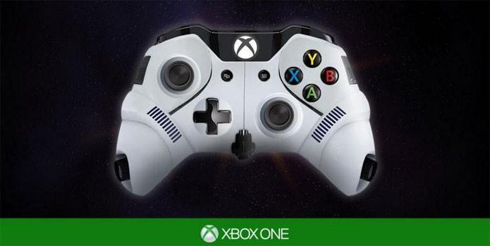 Detalhe do controle inspirado pelo Stormtrooper (Foto: Divulgação)