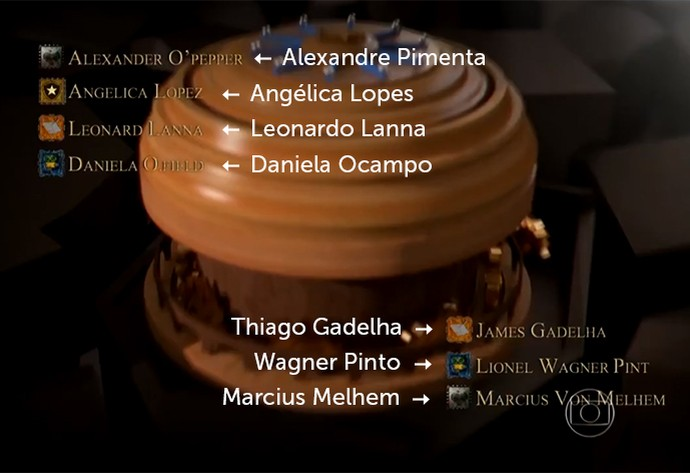 Créditos de Game of Nomes (Foto: TV Globo)