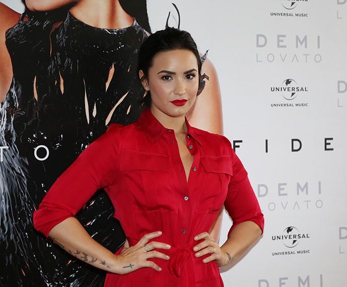 Demi Lovato lança álbum no Brasil (Foto: Carol Caminha/Gshow)