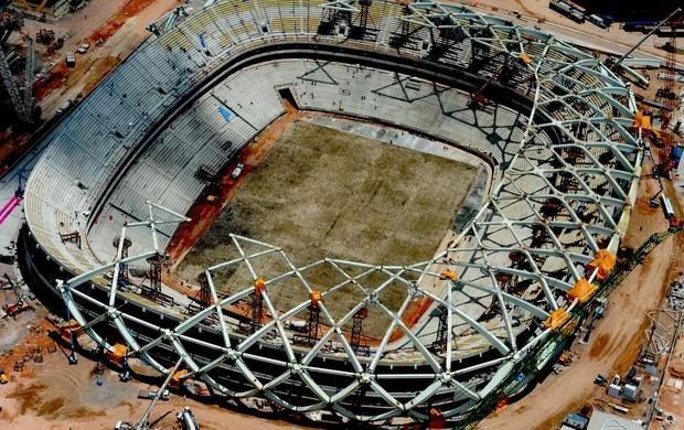 Gramado da Arena da Amazônia (Foto: Chico Batata)
