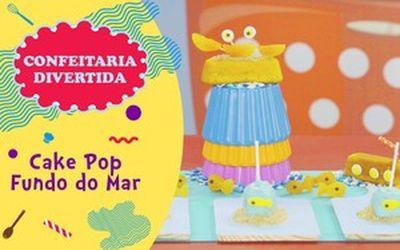 Cake Pop Fundo do Mar