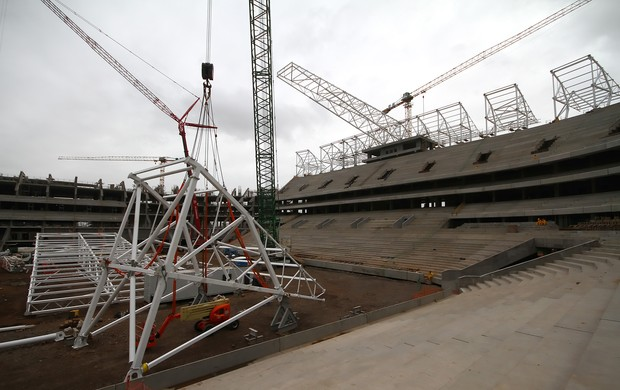 arena grêmio cobertura  (Foto: Lucas Uebel/Grêmio FBPA)