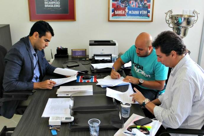 Alexandre Faria vai trabalhar ao lado de Eder Ferrari no departamento de futebol do Bahia (Foto: Divulgação/E.C. Bahia)