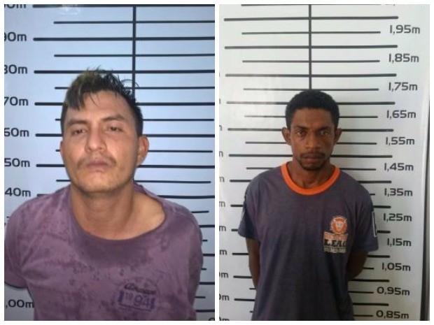 Da direita para esquerda, os foragidos José Silva e Raimundo Nonato capturados na zona Oeste (Foto: Divulgação/ Dicap)