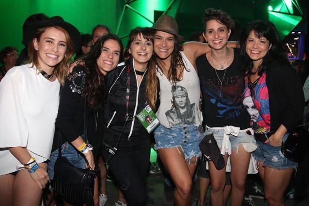 Fernanda Nobre, Rafaela Mandelli, Julia Tavares, Priscila Fantin e Samara Felippo  (Foto: Cleomir Tavares/Ed. Globo)