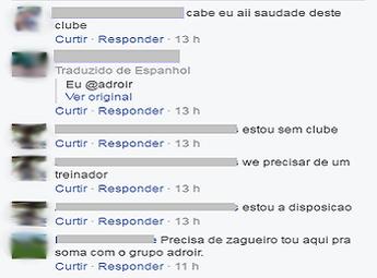 Comentários de atletas e treinador sem clube em busca de uma oportunidade no Náutico-RR (Foto: Reprodução/Facebook)