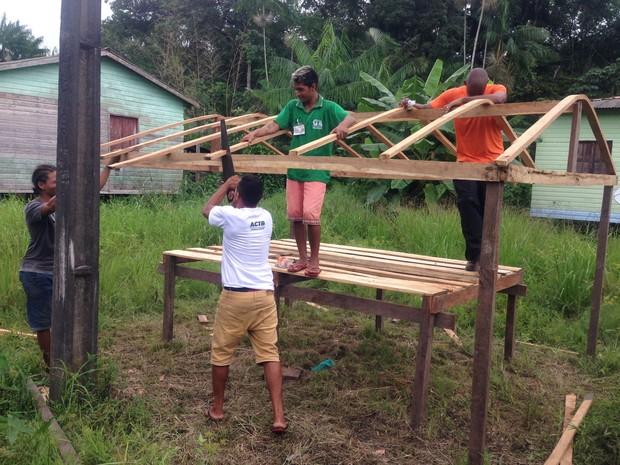 Projeto, semear, reativação, viveiro, bailique, amapá, brasil (Foto: Divulgação/Embrapa Amapá)