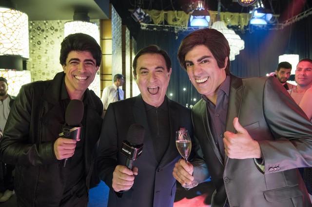 Amaury Jr gravou uma participação 'Tá no Ar' com Marcius Melhem e Marcelo Adnet (Foto: TV Globo)