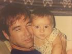 Thor Batista posta foto de quando era bebê no colo do pai, Eike Batista