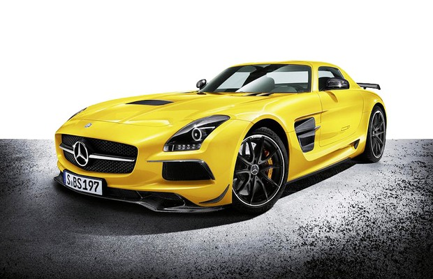 Mercedes-Benz SLS AMG Black Series 2014 (fundo branco) (Foto: Mercedes-Benz)