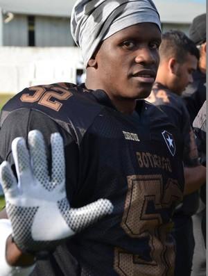 Diego Raimundo dos Santos Silva Mister M ex-traficante jogador de futebol americano do Botafofo (Foto: Arquivo Pessoal)